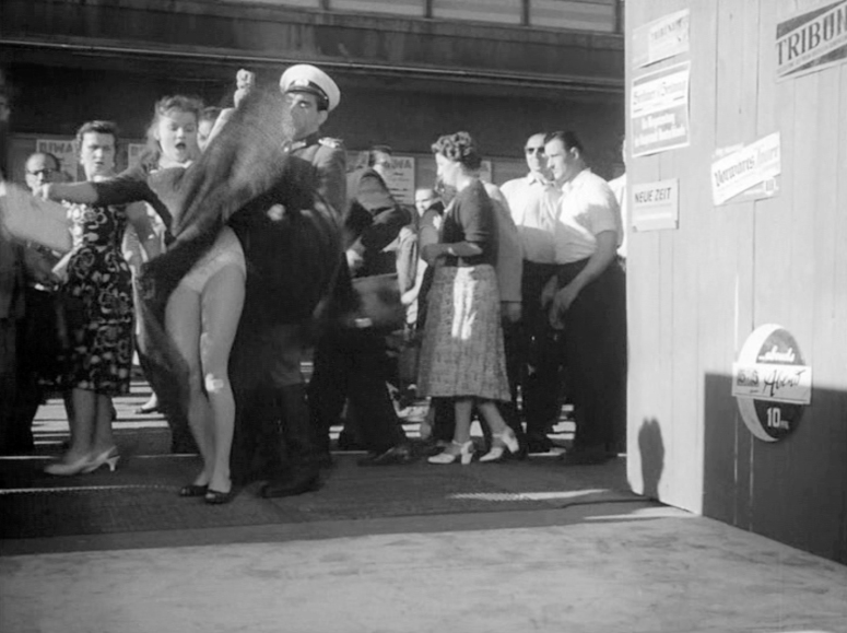 Tradel skirt-lifting scene