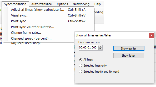 Subtitle Edit screenshot